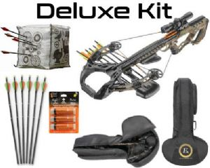 EK Archery Guillotine X + crossbow scope package from Poe Lang crossbows